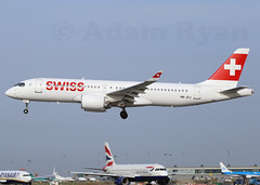 HB-JCJ - Swiss International Airlines CS300 (✈ Adam_Ryan ✈) Tags: dub eidw dublinairport 2019 dublinairport2019 canon 100400liiisusm 100400 avgeek airbus boeing aviation runway28 runway flight aircraft plane hbjcj swiss internation airlines cs300 international