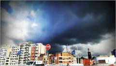 Ciel tourmenté sur la Médiacité, Liège, Belgium (claude lina) Tags: claudelina belgium belgique belgië liège sky nuages clouds immeubles buildings