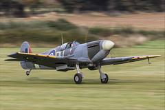 Supermarine Spitfire LFVc - 03 (NickJ 1972) Tags: shuttleworth collection oldwarden race day airshow 2018 aviation supermarine spitfire lfv lf5 v gawii ar501 due