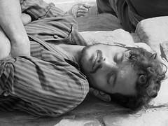 varanasi 2019 (gerben more) Tags: man sleeping sleepingbeauty beard handsomeman blackwhite monochrome varanasi benares india