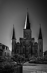 """St. Louis Cathedral (Alex """"Sasha"""" Chitnev) Tags: architecture sky bw black white fine arts new orleans 615 pere antoine alley church nikon d610"""
