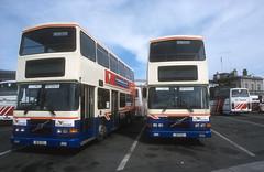 Bus Eireann RV631 & RV633 (Longreach - Jonathan McDonnell) Tags: scan scanfromaslide 2000s 2003 dublinbus busathacliath buseireann volvo volvoolympian rv631 rv633 99d631 99d633