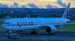 A7-BAK | Qatar Airways | QR963 | DPS - DOH | Boeing 777-3DZ(ER) | Ngurah Rai International Airport | (DPS/WADD) (bukk05) Tags: theboeingcompany boeingcommercialairplanes generalelectricge90110b1 ge ge90 generalelectricge90 akbaralbaker alqaṭariya القطرية goingplacestogether qmiles qatarairwaysprivilegeclub pushback tarmac taxi bali canon60d canon zoom aviation airportgraphy airlines airline air airport summer sky flying fly oneworld flight flickr holiday jetliner jet plane photography photo indonesia international turbofan thrust tamron16300 tamron tourist tourism travel runway engine export explore denpasarairport dpswadd wadd a7bak qr963 wing 2019 777 boeing7773dzer boeing777 boeing ngurahraiinternationalairport denpasar dps doh doha qatarairways qatar
