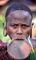 Surmi Woman (Rod Waddington) Tags: africa african afrique afrika äthiopien ethiopia ethiopian ethnic ethnicity etiopia ethiopie etiopian minority omo omovalley outdoor omoriver surmi tribe traditional tribal lipplate woman village portrait people
