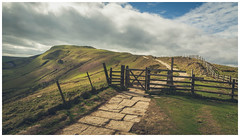Up on the Great Ridge. (Ian Emerson (Thanks for all the comments and faves) Tags: peakdistrict thegreatridge mamtor derbyshire gate fence ridge hiking outdoor landscape clouds spring path canon6d 24105 framed photography classicview light canon myexplore