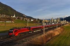 "1116 242, rj 110 ""Hohe Tauern"" ( Klagenfurt > München ). Weißenstein-Kellerberg (M. Kolenig) Tags: railjet kirche berg"