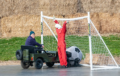 Ann crashing into the goal... (Jez B) Tags: goodwood members meeting 77 2019 mm77 77mm grrc racing road club classic historic motor auto car sport motorsport competition football soccer