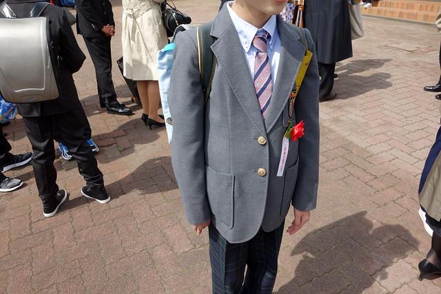 小学校を卒業する第1子の長男