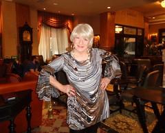 Go For It! (Laurette Victoria) Tags: dress accessories necklace earrings blonde woman laurette hotel lobby milwaukee pfisterhotel