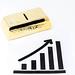 Goldbarren und ansteigendes Balkendiagramm mit Pfeil steht für steigende Goldpreise