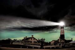 Lighthouse in Tybee Island (Klaus Ficker --Landscape and Nature Photographer--) Tags: lighthouse tybeeisland storm clouds ocean water lightbeam light thunderstorm georgiasoldestandtallestlight georgia usa klausficker