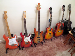 Guitar Collection (Ian156) Tags: fender burns yamaha epiphone lespaul hankmarvin 12string hummingbird hondo