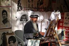Lijiang, artist (blauepics) Tags: china chinese chinesisch yunnan province provinz lijiang city stadt naxi minority minderheit unesco world heritage site weltkulturerbe man mann artist künstler malen painting portrait porträt art kunst