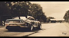 Ford Mustang Gr. 3 (at1503) Tags: lemans france sarthe desaturated oldfilmeffect ford mustang racingcar track circuit fordmustang gt americancar gtsport granturismo granturismosport motorsport racing game gaming ps4 warmtones