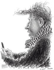 Café Le Sélect 383 (Rick Tulka) Tags: paris cafe caricature pencil drawing sketchbook lesélect
