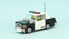 Old police car Ford Crown Vic (de-marco) Tags: police town city lego car vehicle 4wide 4wlc