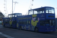 Megasightseeing.com (lazy south's travels) Tags: london waterloo england english britain british uk bus tour open top topper megabus megasightseeing stagecoach lx55eru 18467 18473 tourist lx55epv londoneye