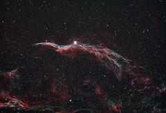 The Western Veil Nebula (AstroBackyard) Tags: western veil nebula witches broom ngc 6960 deep sky astrophotography narrowband explore scientific ed102 telescope refractor oiii ha
