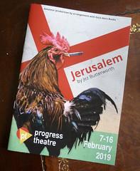February 11th, 2019 Progress Theatre  - Jerusalem (karenblakeman) Tags: progresstheatre themount reading uk programme jerusalem jezbutterworth february 2019 2019pad berkshire