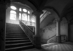 Beelitz XIII (DARK-style) Tags: ramstylepictures ramstyle darkstylereloded darkstyle rotten old exploration exploring lost urbex forgotten decay abandoned beelitz monochrom blackwhite bw lostplaces