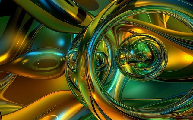 Обои зеленый, желтый, блеск, слияние, устройство картинки на рабочий стол, фото скачать бесплатно