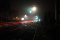 Red is dead (Tonton Gilles) Tags: alençon normandie avenue de basingstoke pose longue filé phares voitures camion rouge feu tricolore vert lampadaires réverbères photo nuit paysage urbain