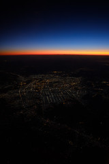 Baghdad City Lights (FlorianMilz) Tags: qalahamidalhabash baghdad iraq iq city lights citylights horizon end earth burning sky sunset sunrise blue orange last light night dusk dawn airplane plane aerial high