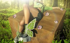 Centre of the forest (✰✰Nubyia Photography✰✰) Tags: enchante boots shoes fashion secondlife sl blogging blog photography photographer