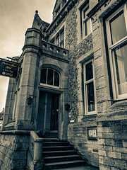 Purbeck House Hotel - Swanage, Dorset (BeerAndLoathing) Tags: 2018 december swanage cellphone england winter uktrip blackwhite google purbeck pixelxl trip googlepixel android bw pixel winter2018 blackandwhite unitedkingdom gb