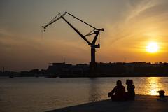 Thursday Evening (Explore) (Rudi Pauwels) Tags: fotosondag vardag fs190407 sunset stenpiren goteborg gothenburg evening silhouettes thursday