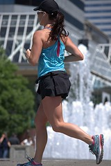 On The Run (Scott 97006) Tags: woman female lady runner exercise shorts running fountain