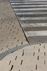 Zebra (Lugarplaceplek) Tags: pavement zebra concrete street
