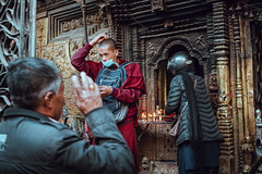 Blessings (danielhibell) Tags: kathmandu nepal travel asia discover explore world street streetphotography people religion culture ambience mood buddhism hinduism colour light praying moving special