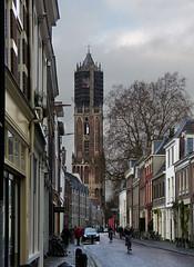 Dom tower in Utrecht (joeke pieters) Tags: 1450010 panasonicdmcfz150 utrecht nederland netherlands holland dom domtoren domtower straat street