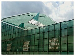 The National Football Museum, Manchester, UK... (zapperthesnapper) Tags: manchester city nationalfootballmuseum modernarchitecture uk england