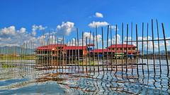 The village fence (gerard eder) Tags: world travel reise viajes asia southeastasia burma birmania birma myanmar landscape landschaft lake lago lakeinle inle inlelake see paisajes panorama natur nature naturaleza fence village dorf pueblo tropical happyplanet asiafavorites