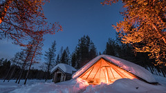 Finnland 2019 (Stefan Giese) Tags: nikon d750 finnland lappland night nacht sallatunturi hütte laavu sterne stars