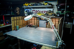 The RCeveryday Scale Garage Build, Part 2-8 (Strangely Different) Tags: rceveryday rcratrod patina scalegarage tinytrucks rccars hobby woodworking fabrication rc4wd axial customrc scratchbuilt handbuiltintexas scaleshop workshop shop garage custom rcengineering