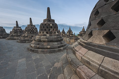 Borobudur Temple (dietrich,herlan) Tags: green indonesia borobudur templebuilding buddha buddhism yogyakarta tourism unescoworldheritagesite architecture internationallandmark monument thepast ancientcivilisation buildingexterior builtstructure centraljavaprovince colourimage day famousplace hinduism history horizontal nopeople oldruin outdoors photography religion romanticsky spirituality stonematerial stupa traveldestinations