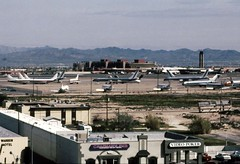 Hacienda view Las Vegas airport 1993 (D70) Tags: hacienda view las vegas airport 1993 thestrip lasvegas nevada usa aircraft