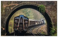 Water under the Bridge (Jim the Joker) Tags: 66056 class66 generalmotors ews dbc dbcargo 6m45 water evian bridge sandling freight railway train