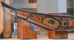 DUGOUT CANOE, WEST COAST NATIVE ART, CARVED WOOD,   UNIVERSITY UBC, VANCOUVER. BC. (vermillion$baby) Tags: nativeart art carvng color firstnations red westcoast wood artsculpture native pacificnorthwest artofnorthamerica artofnativenorthamerica museum carving sculpture woodcarving museums artofthenative nativeamerican indian gallery vivid aborigine