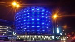 Parkhaus Saturn Hamburg (greenoid) Tags: nacht saturn parkhaus blau illumination stadt city hamburg germany night