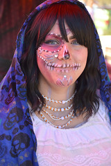 The decorated dead (radargeek) Tags: dayofthedead 2018 october plazadistrict okc oklahomacity facepaint catrina portrait skeleton