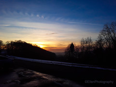 sunset (Fay2603) Tags: germany deutschland schwabenland schwäbische alb sonnenuntergang sunset romantic blau azzurro trees bäume alberi arbre strase himmel sky cielo ciel