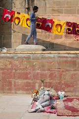 The Streets, Varanasi (Geraint Rowland Photography) Tags: streets streetscenestreetphotographhy colourfulphotography colour holy holyman hindu religion sleeping homeless vagrant splitscene hereintorowlandphotography life wwwgeraintrowlandcouk nationalgeographic india canonindia rivergangesinvaranasi 5d
