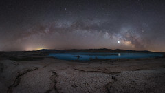 Stewarts Point Milky Way Pano (Mike Ver Sprill - Milky Way Mike) Tags: milky way mike michael versprill ver sprill stewarts point overton nevada las vegas travel landscape cracked mud earth dried dry lake mead galaxy arch panorama pano tutorial learn long exposure nightscape chaser night sky stars