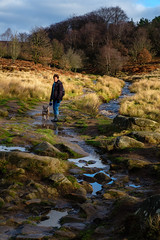 Jan and Clio (Rupert Brun) Tags: hopevalley padleygorge 2018 derbyshire gorge grindleford padley winter sheffield england unitedkingdom gb