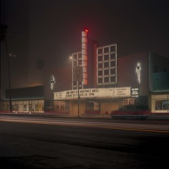Palladium in the fog (ADMurr) Tags: la hollywood palladium fog night mf 6x6 zeiss dba238 hasselblad 500cm 80mm planar fuji pro 400