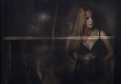 Who dares to tell the time.... (andredekok) Tags: nigh rain darkness woman reflection textures loneliness bestportraitsaoi